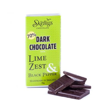 Skelligs Chocolate Lime & Black Pepper Bar